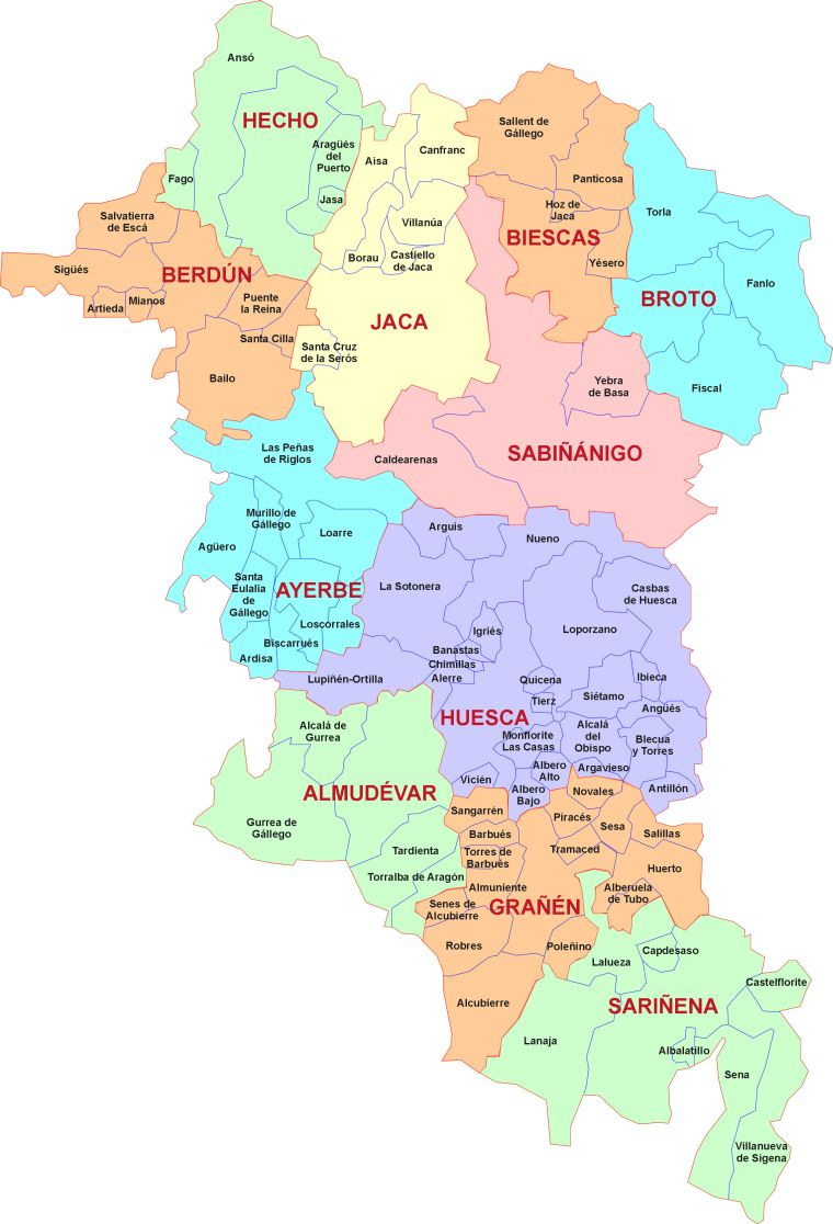 Mapa De Huesca Pirineos.Mapa Sector Huesca